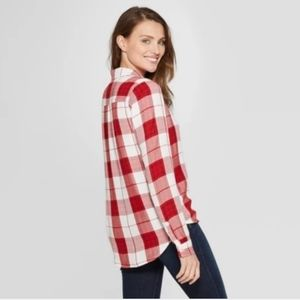 Universal Thread long sleeve red plaid shirt XXL